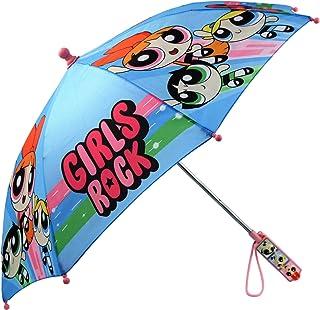 Powerpuff Girls Little Girls Assorted Character Rainwear Umbrella, Blue, Age 3-7