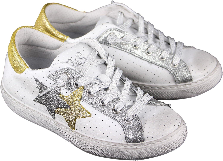 2 Star , Damen Turnschuhe Weiß Bianco