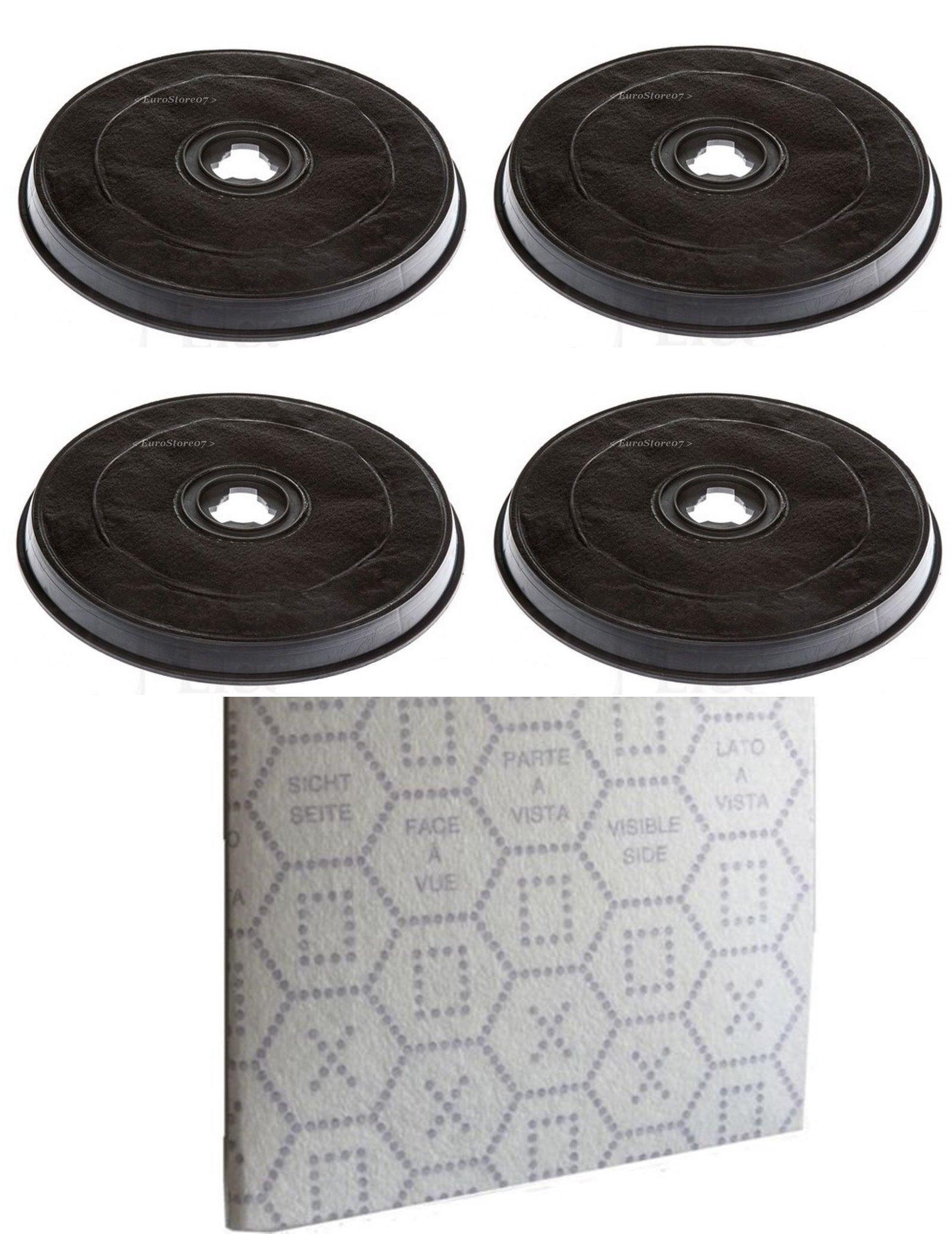 Faber 4 filtros Campana extractora Carbón Activo con mariposa + 1 gamuza H 2.6 cm Diámetro 23.2 F 38: Amazon.es: Hogar