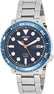 Seiko 5 Series Sports Watch from Mens - Analog Business and Silver Band - SRPC63J1