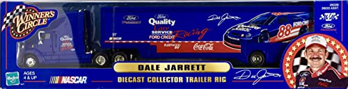 2000 - NASvoiture - Hasbro - Dale Jarrett - Diecast Collector Trailer Rig - Ford Racing - 1 64 Scale - Rare - Limited Edition - Mint - Collectible by Hasbro