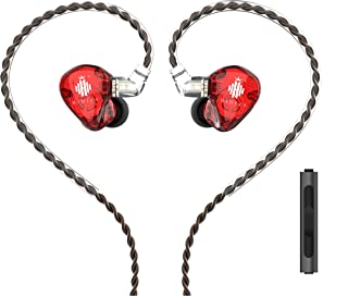 HIDIZS MS1-Rainbow in-Ear Monitor Headphones, Hi Res IEMs Earphones with Detachable Cable, Polymer Diaphragm HiFi Bass Noi...
