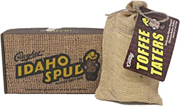 product image for 'Famous Idaho Spud Candy Bars with Owyhee Toffee Taters. Great Gift Idea. Personalized gift card option available at checkout