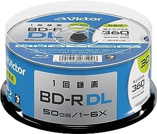 ビクター Victor 1回録画用 BD-R DL VBR260RP30SJ2 (片面2層/1-6倍速/30枚)
