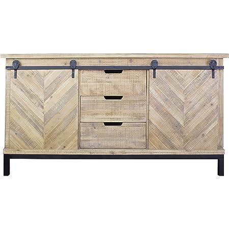 Black Eboni 4 Door 3 Drawer Sideboard
