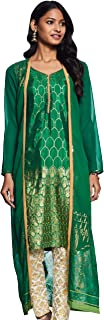 Aurelia Women's synthetic straight Salwar Suit Set (19AUAS11009-500748_ Green_ X-Small)