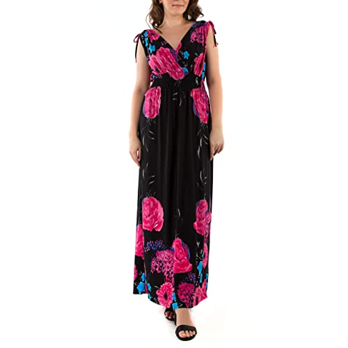 f03992759b fashion house Ladies Floral Vines Print Summer Beach Casual Holiday Maxi  Day Dress