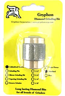Gryphon 1 Inch Diamond Coated Mirror Grooved Grinder Bit