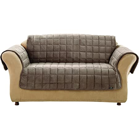 Surefit Deluxe Pet Cover Sofa Slipcover Sable Sf39227 Home Kitchen