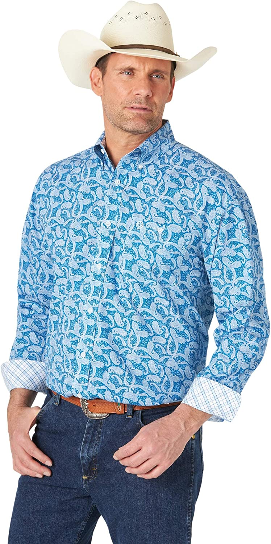 Wrangler Men's George Strait Long Sleeve Button Woven Shirt