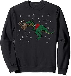 T-Rex Eating Reindeer Funny Dinosaur Boy Christmas Gift Sweatshirt