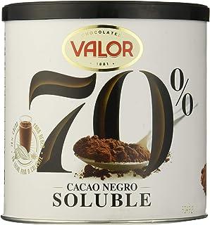 Valor Cacao Soluble Negro 70%, 6 de 300 g (Total 1800 g)