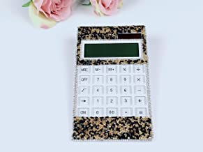 blingustyle Sparkly Crystal 12 Digits Dual Power Calculator for Home/Office BK/G photo