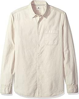 AG Adriano Goldschmied Men's Bristol Long Sleeve Slub Cotton Button Down Oxford