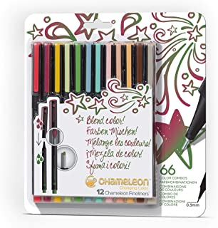Chameleon Art Products, Bright Colors Fine Liner Pens - Set of 12