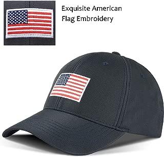 Tirrinia Unisex American Flag Embroidered Baseball Cap Adjustable Sports Golf Cap