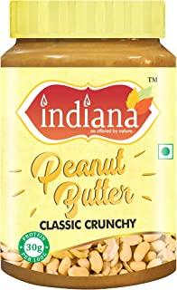 INDIANA Classic Peanut Butter (Crunchy) 100% Roasted Peanuts (500g) | 30% Protein