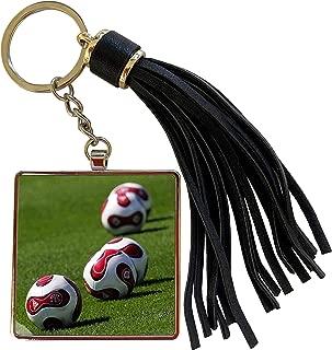 3dRose Soccer - Soccer Balls - Tassel Key Chain (tkc_3315_1)