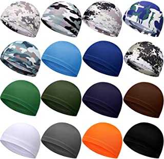 Sponsored Ad - Geyoga 16 Pieces Helmet Cap Cooling Cycling Cap Sweat-Wicking Beanie Cap Sports Helmet Cap for Women and Me...