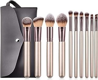 BLLXMX Multifunctional 10 Makeup Makeup Brushes Brushes Makeup Tools Loose Powder Blush Brush Barrel Champagne Gold