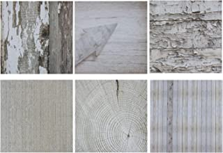 Designer Paper Pad - 48 Sheet Double Sided, Vintage Distressed Wood Texture, 6 Rustic Designs for Scrapbooks, Photo Collage, Classroom Projects, Photo Albums, 12 x 12 Inches, Heavyweight Paper 120 GSM