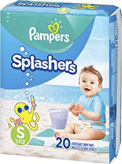 Swim Diapers Size 3 (13-24 lb), 20 Count - Pampers Splashers Disposable Swim Pants, Small