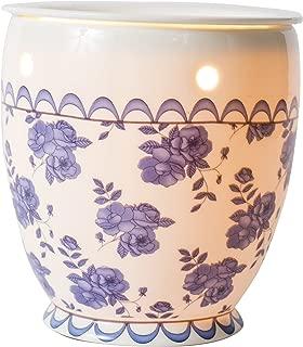Scentsationals Candle Warmer, Wax Warmer, Vintage Blue Rose. 25w Bulb Air Freshener - Full Size Electric Warmer 120V. Vintage Home Décor