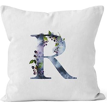 Xmiral Kissenbezug Englisches Alphabet Muster Baumwolle