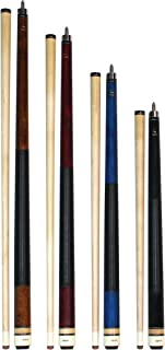 Aska Set of 4 Short Kids Pool Cue Sticks LCS, Stained Maple, Canadian Hardrock Maple Shaft, 13mm Tip, Mixed Lengths 36
