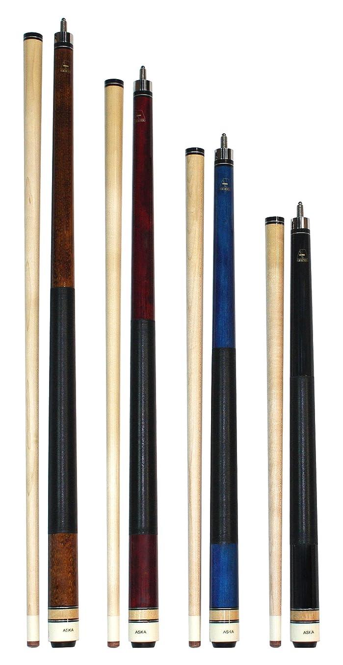 Aska Set of 4 Short Kids Cues LCS, Canadian Hard Rock Maple Billiard Pool Cue Sticks