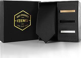 "Skinny Tie 2"" - Thin Necktie Clip Set 1.5"" - 3 pcs"