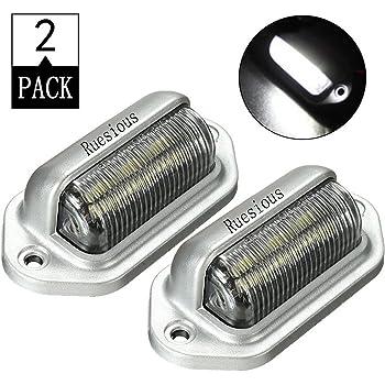 vis 2x Boulon eclair plaque BiG LED blanche capot 12V