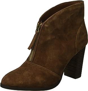 حذاء نسائي برقبة حتى الكاحل من Athena Alexander مصنوع من جلد سويدي بني، مقاس 9.5 M US