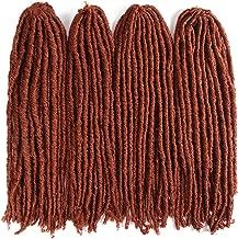 18inch Soft Dreadlocks Crochet Braids Kanekalon Jumbo Dread Hairstyle Ombre Synthetic Faux Locs Braiding Hair Extensions,#350,20inches,1Pcs/Lot