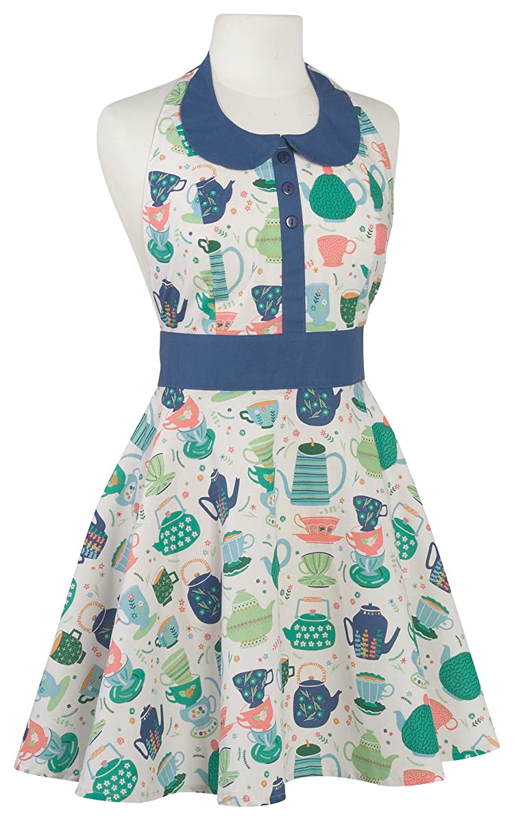 Now Designs 609890 Zoe Apron, Perfect Cuppa,