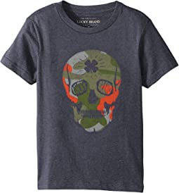 Lucky Brand Kids - Camo Skull Short Sleeve Tee (Little Kids/Big Kids)