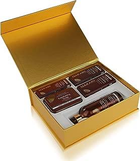 Makari Exclusive Skin Toning Gift Set – Complete Skin Lightening, Brightening & Toning Regimen with 16.8oz Toning Milk, 1.7oz Cream, 1.7oz Serum, 1oz Gel, 7oz. Exfoliating Soap & Decorative Gift Box