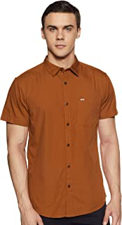 ABOF Men's Solid Slim Fit Casual Shirt