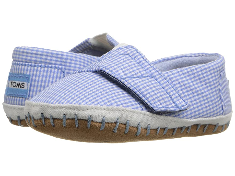 TOMS Kids Crib Alparagata (Infant/Toddler) (Blue Gingham) Kid
