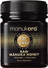 Manukora UMF 20+/MGO 830+ Raw Mānuka Honey (250g/8.8oz) Authentic Non-GMO New Zealand Honey, UMF & MGO Certified, Traceabl...