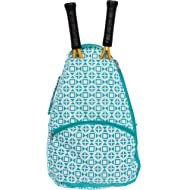 ccdbf76b92 LISH Deuce Tennis Racket Backpack - Women's Geometric Square Printed Tennis  Racquet Holder Bag