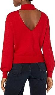 The Drop Women's Jaclyn Cutout Back Mock-Neck Sweater