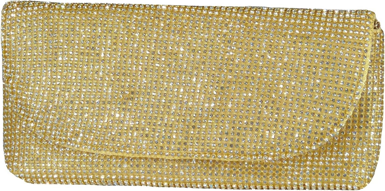 Samtlebe® Clutch Abendtasche Envelope Strass MB7348 Gold B07MNWWRFB  Elegante Elegante Elegante Form 231380