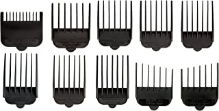 Wahl Professional Animal Attachment Guide Comb 10 Pack Grooming Set for Wahl's Show Pro Plus, Iron Horse, Pro Ion, U-Clip, Deluxe U-Clip Pet, Dog, Cat, Horse Clippers (#3173-500)