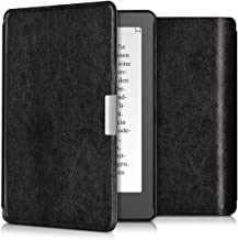 kwmobile Case for Kobo Aura Edition 2 - Book Style PU Leather Protective e-Reader Cover Folio Case - Black