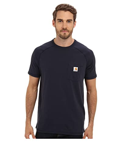Carhartt Force(r) Cotton Delmont Short-Sleeve T-Shirt (Navy) Men