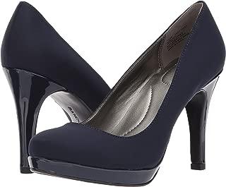 navy blue platform shoes