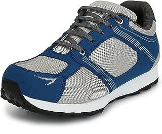 Sir Corbett Men's Mesh Grey Blue Jogging Shoes(Big UK11-UK14)