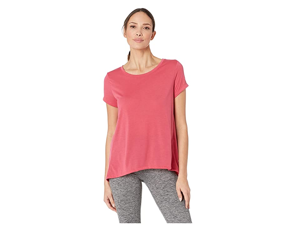 Under Armour UA Whisperlight Short Sleeve Fold-Over (Impulse Pink/Impulse Pink/Tonal) Women