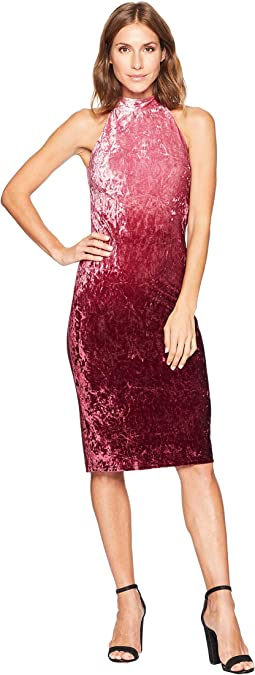 Hailey Sleeveless Ombre Velvet Dress